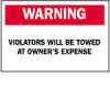 Traffic Sign: Industrial (B-120; Red/Black on White; WARNING; Premium Fiberglass) -- 754476-45474