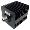 6 dB Fixed Attenuator N Male (Plug) to N Female (Jack) Up to 3 GHz Rated to 25 Watts, Heatsink Body, 1.25 VSWR -- SA3N25-06 -Image