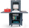 Multi-Data Entry Computer Cabinet -- 26-CC-242-2WLDSLF