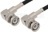 BNC Male Right Angle to BNC Male Right Angle Cable 24 Inch Length Using 53 Ohm RG55 Coax -- PE38506-24 -Image