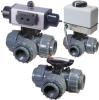 PTP Series 3-Way Diverter Ball Valve -- FPT Model
