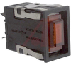 Switch, Pushbutton, INCANDESCENT LAMP, Rectangular, BLACK BEZEL, RED NEON -- 70119095 - Image