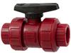 Red PVDF Plastic Valves -- Chemtrol®