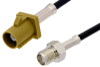SMA Female to Curry FAKRA Plug Cable 36 Inch Length Using RG174 Coax -- PE39345K-36 -Image