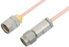 3.5mm Male to 1.85mm Male Cable 24 Inch Length Using RG405 Coax, RoHS -- PE36535LF-24 -Image