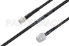 MIL-DTL-17 SMA Male to TNC Male Cable 200 cm Length Using M17/28-RG58 Coax -- PE3M0122-200CM -- View Larger Image