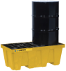2 Drum EcoPolyBlend™ Spill Containment Pallet - Yellow -- PAL28622