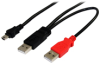 StarTech.com USB Y Cable for External Hard Drive -- USB2HABMY6