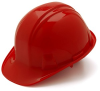 Pyramex HP14120 Hardhat Red With Ratchet, CSA Approved -- HARDHAT14135RED