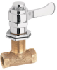 Panel Mounted Valve, Self-closing, Polished Chrome-plated Vandal-resistant Lever Handle With Rough Brass Body -- 5851LF