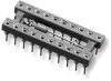 Open-Frame Capacitor Collet DIP Sockets with Solder Tail Pins – Series 518