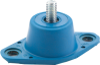 Neoprene/Elastomeric Floor Mounted Non-Seismic Isolator -- RP-Single-Deflection-Isolators-w/-Positioning-Pin -Image
