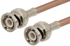 BNC Male to BNC Male Cable 24 Inch Length Using RG142 Coax, LF Solder -- PE3495LF-24 -Image