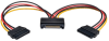 15-Pin Serial ATA (SATA) Power Y Splitter Cable Adapter, Male / Female, 6