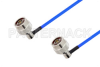 N Male Right Angle to N Male Right Angle Cable 100 cm Length Using PE-141FLEX Coax, RoHS -- PE3CA1049-100CM -Image