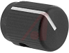 Knob;Dia 0.5in;Shaft Sz 0.125 in;Panel;Top & Side Saw Cut;Black Matte;Aluminum -- 70126024 - Image