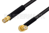 SMP Female to SMP Female Right Angle Cable 6 Inch Length Using PE-SR405FLJ Coax -- PE3C0438-6 -Image