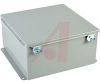 ENCLOSURE;NEMA 12;HINGED COVER;SCREW CLAMP;J BOX;12.00X12.00X6.00;STEEL;GRAY -- 70066814