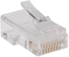 RJ45 Plugs for Flat Solid / Stranded Conductor Cable, 100-Pack -- N030-100-FL