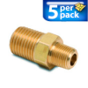 Connector Air Fitting: male, brass, for 1/4in NPT to 1/8in NPT, 5/pk -- BFMC-14N-18N -- View Larger Image