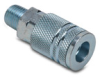 Air Coupling: quick-disconnect, steel, 1/4in ID 1/4in male NPT -- HC14-14M-A -- View Larger Image