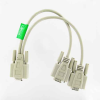 1ft DB9 Female to 2 Male Serial RS232 Splitter Cable -- D920-YY - Image