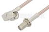 SMA Male Right Angle to SMA Female Bulkhead Cable 6 Inch Length Using RG316-DS Coax -- PE34061-6 -Image