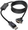 DisplayPort to VGA Cable, Displayport with Latches to HD-15 Adapter (M/M), 6-ft. -- P581-006-VGA - Image