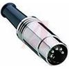Conn; Circ; DIN; Cable Plug; Metal; Straight; 5 -- 70151424