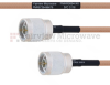 N Male to N Male MIL-DTL-17 Cable M17/128-RG400 Coax in 60 Inch -- FMHR0064-60 -Image