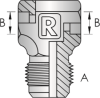 S152 – JIC Male Tube Weld Tee -Image