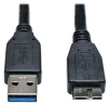 USB 3.0 SuperSpeed Device Cable (A to Micro-B M/M) Black, 1-ft. -- U326-001-BK