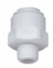 Push-to-connect male adapter, polypropylene, 1/4