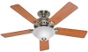 Ceiling Fan,52 In,Chestnut/Rosewood -- 28723