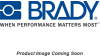 Brady B-302 Polyester Personal Protection Equipment (PPE) Sign - Language English / Spanish - TEXT: HEAR PROTECTION REQUIRES HERE - 37693 -- 754473-37693