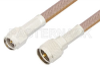SMA Male to Mini UHF Male Cable 24 Inch Length Using RG400 Coax, RoHS -- PE3278LF-24 -Image