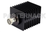 High Power 100 Watts RF Load Up To 2 GHz With 7/16 DIN Female Input Square Body Black Anodized Aluminum Heatsink -- PE6137 -Image