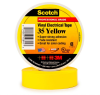 Scotch® Professional Grade Color Coding Vinyl Electrical Tape 35 -YELLOW - 1/2/2; x 20 ft roll -- MMMTAPE-35-1/2-20-YELLOW -Image
