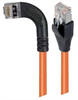 Category 5E Shielded Right Angle Patch Cable, Right Angle Left/Straight, Orange 15.0 ft -- TRD815SRA6OR-15 -Image