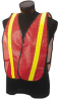 Jackson Safety Lime/Orange Universal High-Visibility & Reflective Vest - 761445-00518 -- 761445-00518