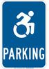Brady B-120 Fiberglass Rectangle Blue Parking Sign - 12 in Width x 18 in Height - TEXT: Parking - 145438 -- 754473-54263