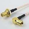 SMA Female Bulkhead to RA Push-On SMB Male Cable RG-316 Coax in 12 Inch -- FMC1226315-12 -Image