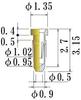 Small Size Socket Pin -- NSF0010-GG -- View Larger Image