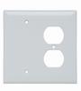 Combination Openings, 1 Blank & 1 Duplex Receptacle -- SPJ138W - Image