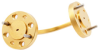 WR-5 Waveguide H-Bend with UG-383/U-Mod Flange Operating from 140 GHz to 220 GHz -- PEW5B0001 - Image