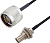 BNC Female Bulkhead to N Male Cable Assembly using LC085TBJ Coax, 10 FT -- LCCA30636-FT10 -Image