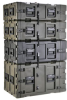 "3RR 11U Removable Shock Rack Transport Case - 24"" Deep -- 3RR-11U24-25B - Image"