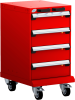 Mobile Compact Cabinet with Partitions -- L3BBD-2817B -Image