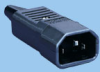 IEC 60320 Sheet E Rewireable Cable Mount Plug -- 83011060