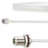 SMA Male to N Female Bulkhead Cable FM-SR141TB Coax in 12 Inch with LF Solder -- FMCA2131-12 -Image